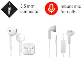 Kboom 1 YS and 1 Earphone In-Ear Wired Headphone ( Assorted )