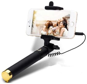 Roeid Selfi Stick without remote for Mobile Phones - Black