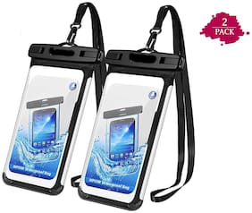 Roeid set of 2 Three Layers Waterproof Sealed Transparent Mobile Bag Cover