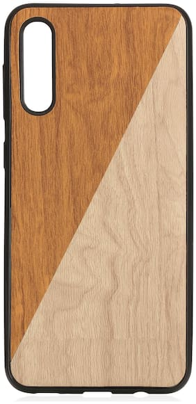 Royal Son Rubber Designer Back Cover For Samsung Galaxy A50 ( Brown )