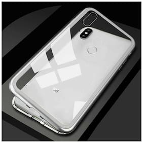 Royal Son Magnetic Metal Frame/case Tempered Glass Hard Back Cover with Built-in Magnets Bumper Compatible for Xiaomi NOTE 5 Pro