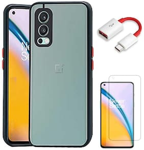 RRTBZ Back Case Cover for OnePlus Nord 2 5G with OTG Cable and Screen Guard