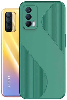 Realme X7 Silicone Back Cover By RRTBZ ( Green )