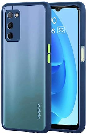 OPPO A53s 5G Silicone Back Cover By RRTBZ ( Blue )