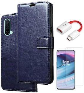 RRTBZ Flip Cover Case for OnePlus Nord CE 5G with OTG Cable and Screen Guard