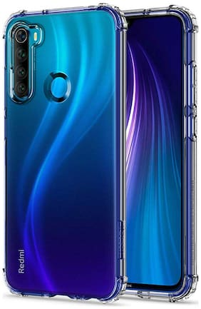 Redmi Note 8 Silicone Back Cover By RRTBZ ( Transparent )
