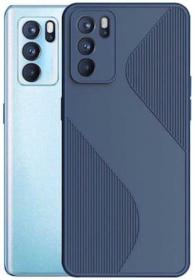 RRTBZ ShockProof Soft Flexible Matte Back Case Cover for Oppo Reno6 Pro 5G -Blue