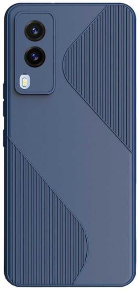 RRTBZ Soft Silicon Back Case Cover for Vivo V21e 5G -Blue