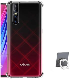 TBZ Silicone Back Cover For Vivo V15 Pro ( Transparent )