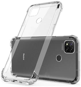 RRTBZ Transparent Soft Silicone TPU Flexible Back Cover for Xiaomi Redmi 9