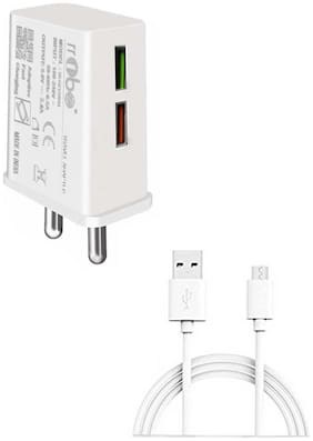 RRTBZ Wall Charger 2.4A and Micro USB Cable, Wall Charger | Travel Charger Adapter Compatible With Samsung, Oppo, Vivo, Xiaomi, Smart Phone