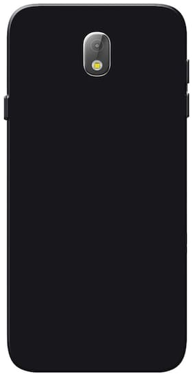 Rubberised Matte Hard Case Back Cover For Samsung Galaxy J7 Pro (Black)