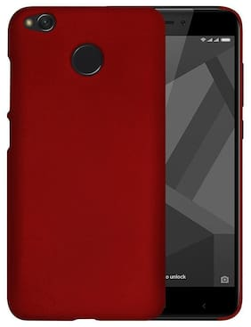 Rubberised Matte Hard Case Back Cover For Xiaomi Mi Y1 (Wine Red)