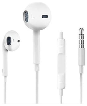 S4 3.5 mm Jack Earphones Compatible for iPhone 7 In-Ear Wired Headphone ( White )