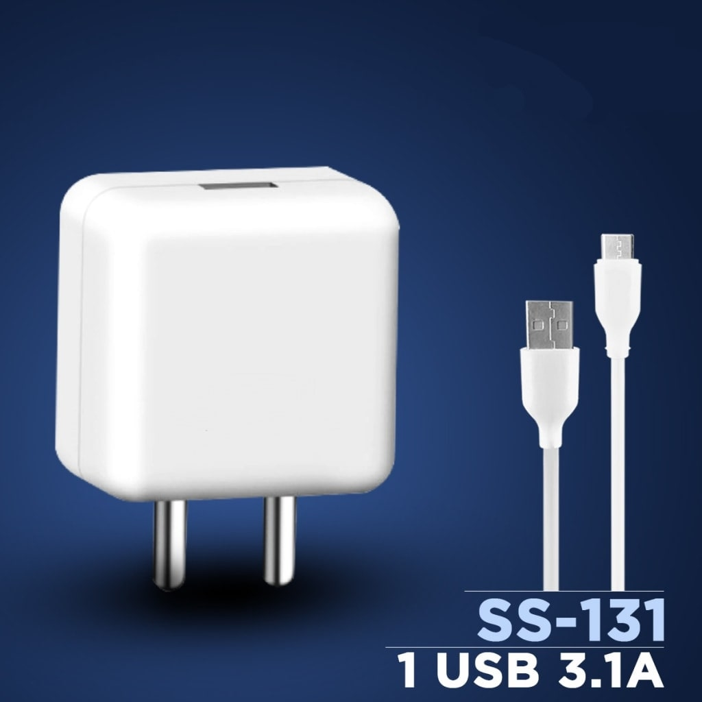 S4 5V/3.1A Flash Power Adapter Wall Charger with SuperFast Data Sync Charging...