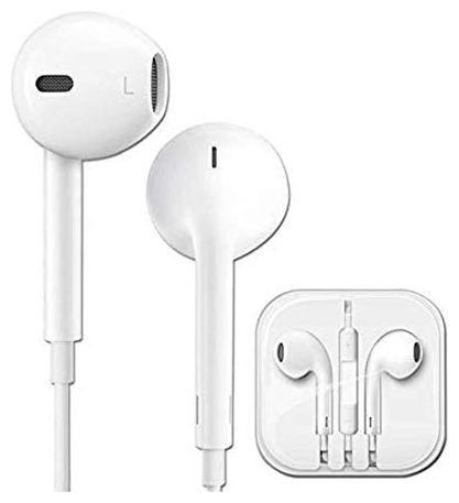 S4 Earphones Headphones   12mm Large Drivers In Ear Wired Headphone   White