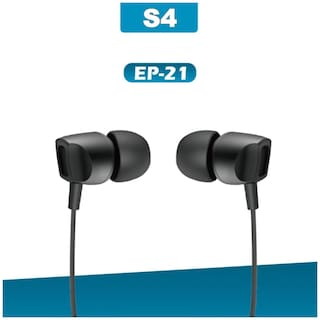 S4 EP-21 Universal Stereo In-Ear Wired Headphone ( Black )