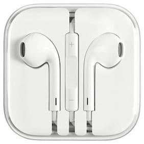 S4 Natural Sound System High Bass in-Ear Earphone with Mic 3.5mm Jack for iPhone 6 In-Ear Wired Headphone ( White )