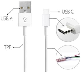 S4 Data & Charging Type-C Cable ( 1-1.5m , White )