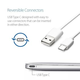 S4 Type C Data Sync Fast Charging Cable for OnePlus 6/5/5T/3/3T (White)