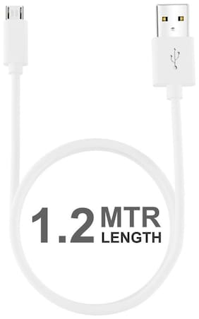 Samsung Galaxy On Nxt Compatible White 1 Meter Charging and Data Transfer Usb Cable S4