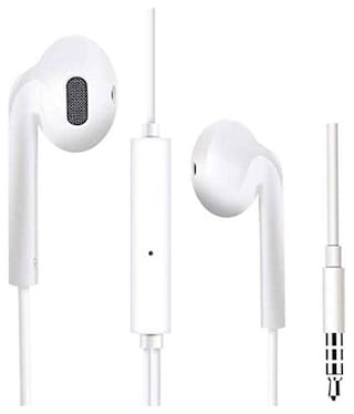 S4 Compatible Wired Earphones with Mic In-Ear Wired Headphone ( White )