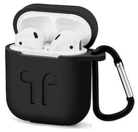 Apple AirPods (1st Generation) Silicone Pouch By Sabairya ( Black )