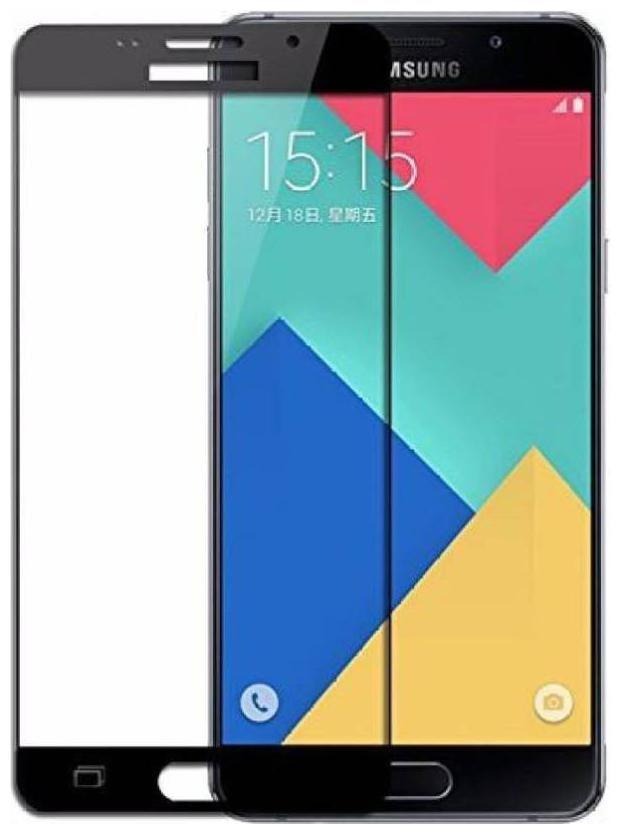 SaiArvs Tempered Glass Guard for Samsung Galaxy A9 Pro   Black