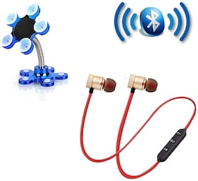 Sami Bluetooth Headset and Mobile Holder Multi Color