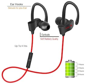 Sami Ear Wireless Bluetooth 4.1 Sweatproof Sports Jogger Earphones with Deep Bass and Headset Compatible With Android and iOS Devices - Carbon Black