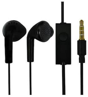 SAMING Original Handsfree for All 3.5mm Jack Galaxy Smartphones In-Ear Wired Headphone ( Black )