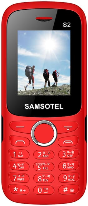 SAMSOTEL Dual SIM Feature Phone (Red)