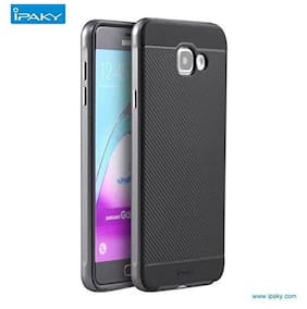 Premsons Samsung A710 - 2016 iPaky Bumbleebee Pattern Back Cover Case (Grey)