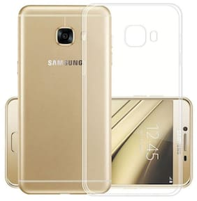TSV Silicone Back Cover For Samsung Galaxy A9 Pro ( Transparent )