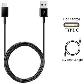 Samsung Data & Charging Type-C Cable ( 1.2 mtr , Black )