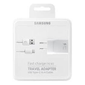 Samsung EP-TA20IWECGIN 15W Fast Charge USB Type-C Cable Wall Charger - White
