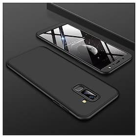 Samsung Galaxy A6 Plus + Back Case Cover: Full Body 3-in-1 Slim Fit Complete 3D 360 Degree Protection Hybrid Hard Bumper for Samsung Galaxy A6 Plus + (Black )