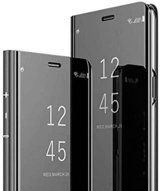 ACCESORIES LEGACY Polycarbonate Flip Cover For Samsung Galaxy A9 2018 ( Black )