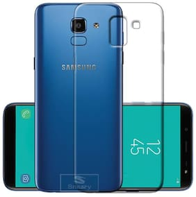 BIG CAT Silicone Back Cover For Samsung Galaxy J6 ( Transparent )