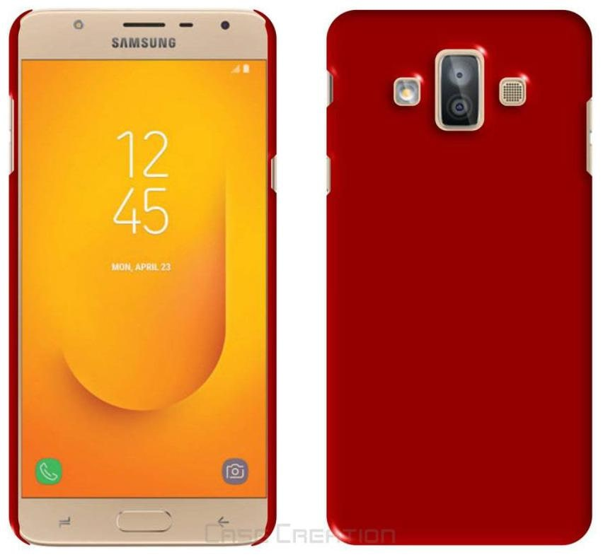 Samsung Galaxy J7   6  New 2016 Edition  Plastic Back Cover By CREATIVO   Red   by Candys Cart
