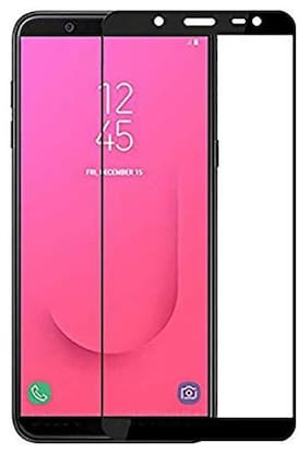 Samsung Galaxy J8 2018 Edge To Edge Tempered Glass By Tempered Glasses Privacy Screen Guard, Bubble Free Installation