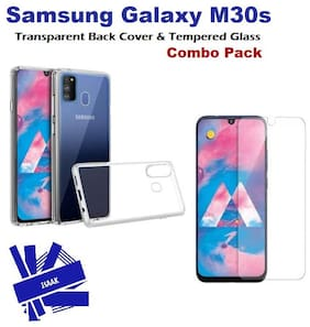 Samsung Galaxy M30s Tempered Glass & Back Cover (Combo Pack)
