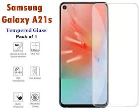 Samsung Galaxy A21s Full Coverage Tempered Glass (Pack of 1)