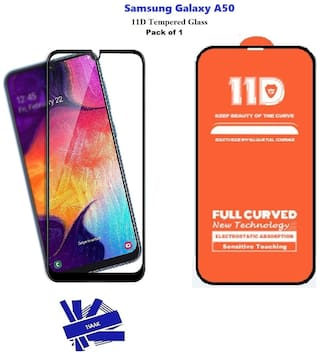 Samsung Galaxy A50 Edge to Edge,  Full Glue 11D Tempered Glass with 9H Hardness