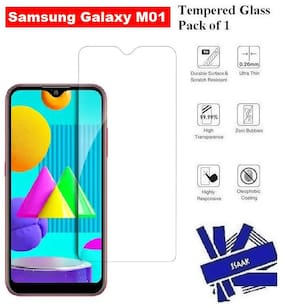 Samsung Galaxy M01 Full Coverage Tempered Glass (Pack of 1)