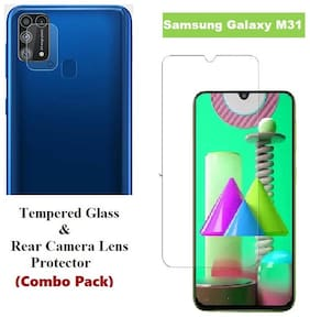 Samsung Galaxy M31 Tempered Glass & Rear Camera Lens Protector (Combo Pack)