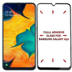 Samsung Galaxy A30 All Angle Fully Curved Anti_FingerPrint Premium 5D Tempered Glass