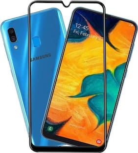 Samsung Galaxy A30 Full Glue Coverage 5D Edge to Edge 9H Tempered Glass
