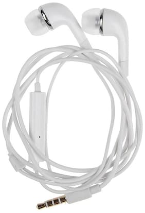 Mobality Samsung Galaxy M10 In-Ear Wired Headphone ( White )