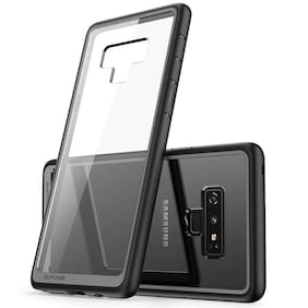 Samsung Galaxy Note 9 Case [Magnetic Metal Frame + Tempered Glass Clear Back] (black,1 PC)